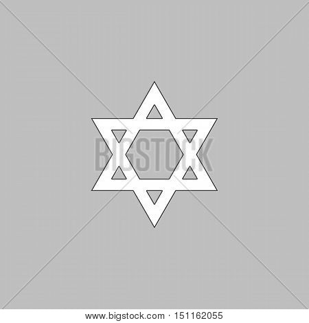Star of David Icon Vector. Flat simple color pictogram