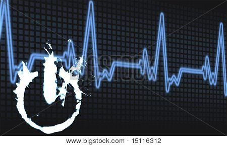 Abstract On Off Button Heartbeat Background