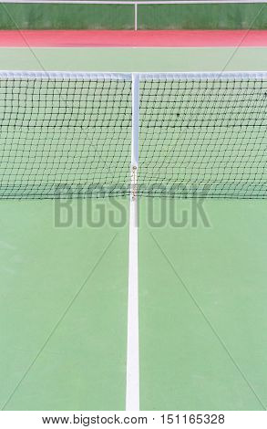 center green tennis court with lines and nets knock board background