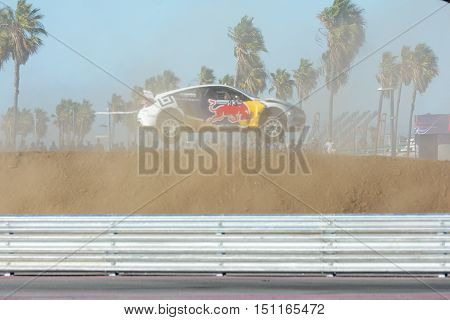 Sebastian Eriksson 93, Drives A Honda Civic Car, During The Red Bull Global Rallycross