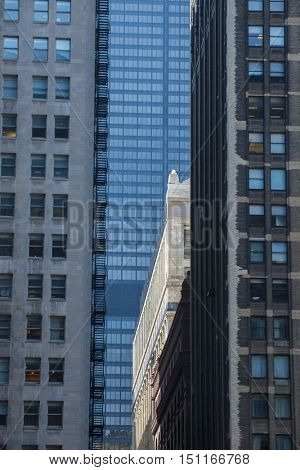 City urban buildings old new background pattern window grids reflection lifestyle