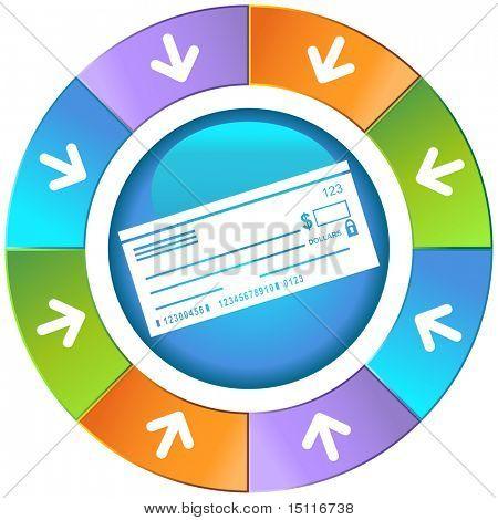 checkbook icon wheel