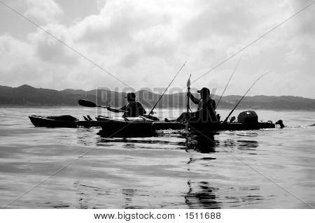 2 Fishing Kayaks Returning Home