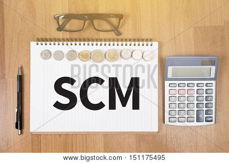 SCM Supply Chain Management concept advertising advertise