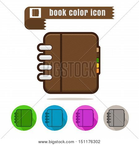 icon book colorful design vector on white background