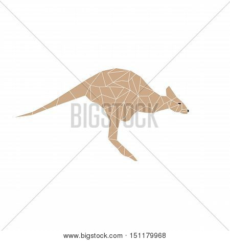 Kangaroo jumping designed using colorful mosaic pattern graphic vector