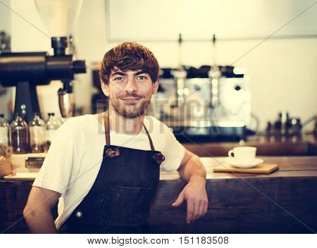 Barista Cafe Coffee Uniform Apron Service Shop Concept