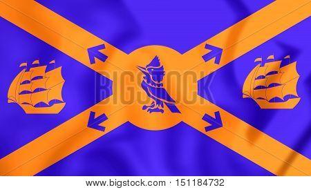 3D Flag Of Halifax, Canada. 3D Illustration.