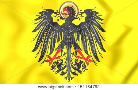 3D Imperial Banner Of Holy Roman Emperor (before 1433).
