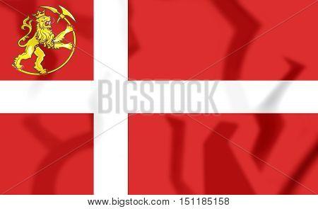 3D Flag Of Norway (1814-1821). 3D Illustration.