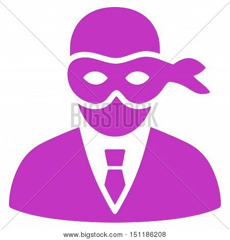 Masked Thief icon. Glyph style is flat iconic symbol with rounded angles, violet color, white background.