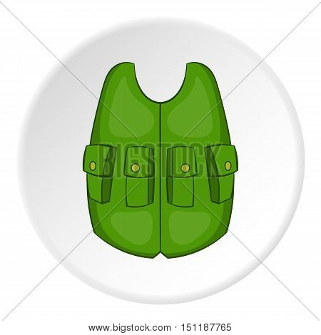 Green hunter vest icon. artoon illustration of green vest vector icon for web