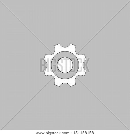 Bearing Simple line vector button. Thin line illustration icon. White outline symbol on grey background