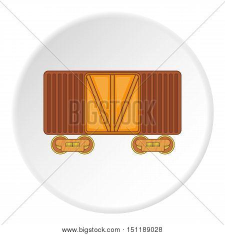 Railway cargo container icon. artoon illustration of railway cargo container vector icon for web