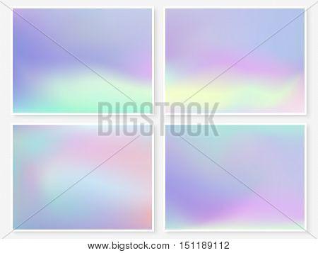 Holographic Background Vibrant Pastel Texture Violet
