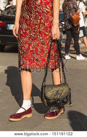 Detail Of Bag And Shoes During Milan Fashion Week