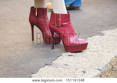 Detail Of Shoes During Milan Fashion Week