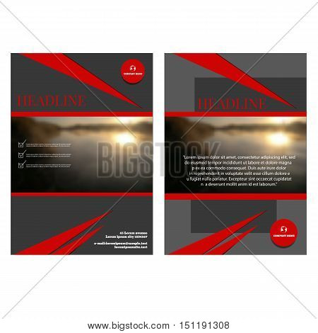 Brochure Flyer Design Template Vector Cover Presentation Geometric Background Modern Publication Pos