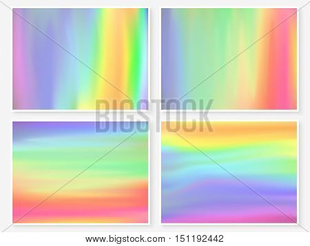 Holographic Background Multicolor Texture Rainbow