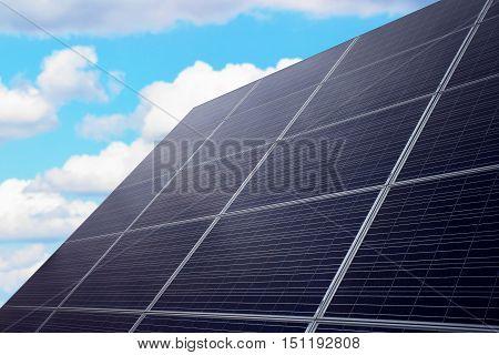 Solar panel against the sky, an alternative source of power, clean energy, solar energy