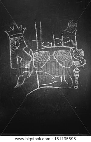 The Inscription Chalk On The Blackboard - Happy Boss's Day