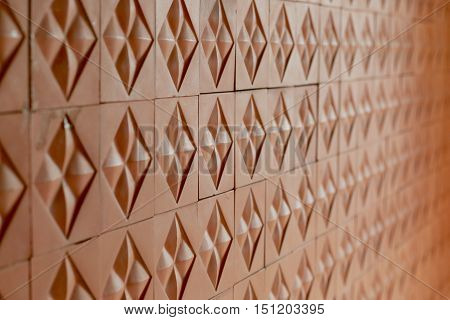 Tiled Pattern For Continuous Replicate  Red Brick Wall