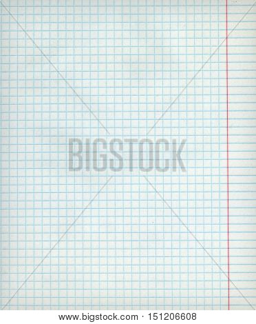Detailed blank math paper sheet texture with margins.