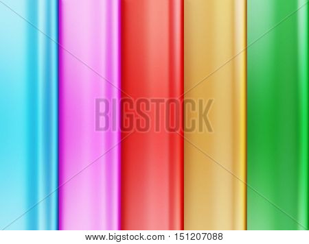 Abstract image of bands simulating silk. Can be used as texture background. 3d illustration