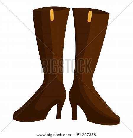 Woman boots icon. Cartoon illustration of woman boots vector icon for web