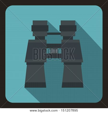 Binoculars icon. Flat illustration of binoculars vector icon for web