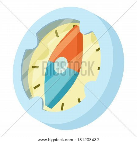 Compass icon. Isometric illustration of compass vector icon for web.