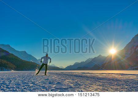 Cross-country Skiing Skating