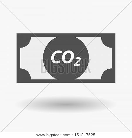 Isolated Bank Note Icon With    The Text Co2