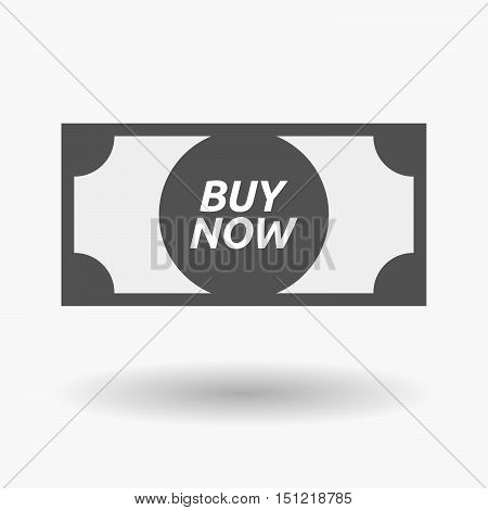 Isolated Bank Note Icon With    The Text Buy Now
