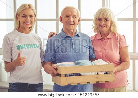 Volunteer And Old People