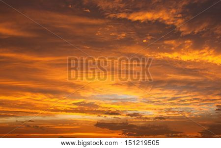 beautiful Evening sunset view of beautiful sky