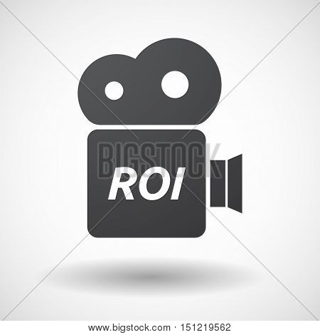 Isolated Film Camera Icon With    The Return Of Investment Acronym Roi