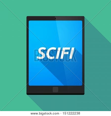 Long Shadow Tablet Pc With    The Text Scifi
