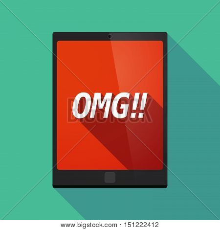 Long Shadow Tablet Pc With    The Text Omg!!