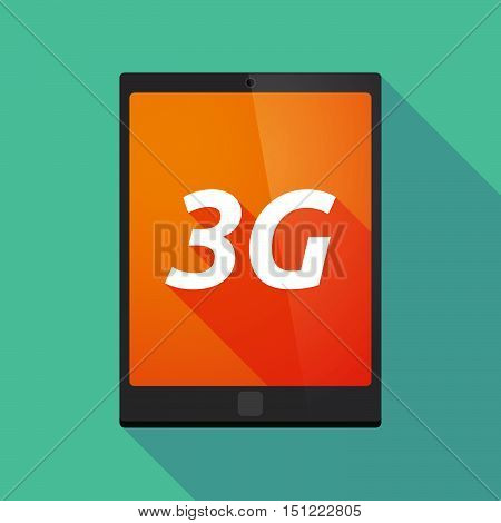 Long Shadow Tablet Pc With    The Text 3G