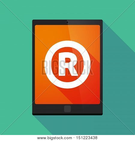 Long Shadow Tablet Pc With    The Registered Trademark Symbol