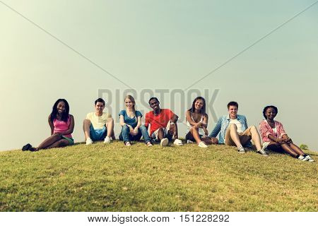 Friends Hanging Out Together Concept