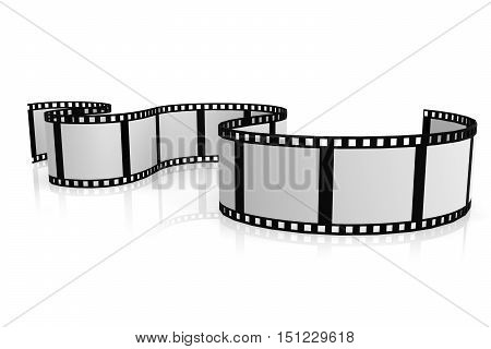 Isolated Film With White Background