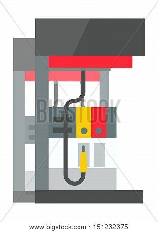 Fuel pump, gas station icon vector illustration. icon industrial illustration.