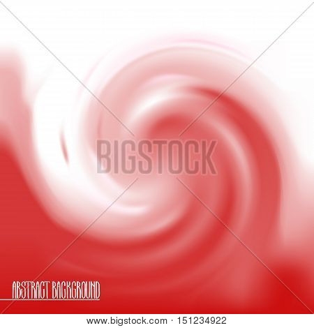 Abstract swirl background in red colors. Vector wavy design. Juicy strawberry.