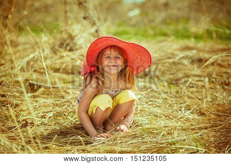 Girl Smiles And Happy