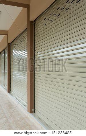 Roller Shutter Door In Warehouse Building