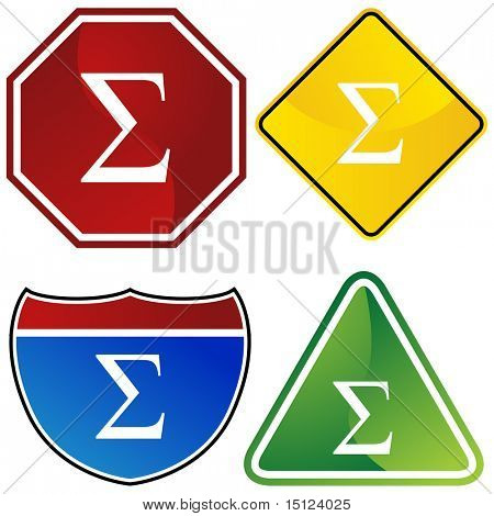 Greek fraternity symbol isolated on a white background.