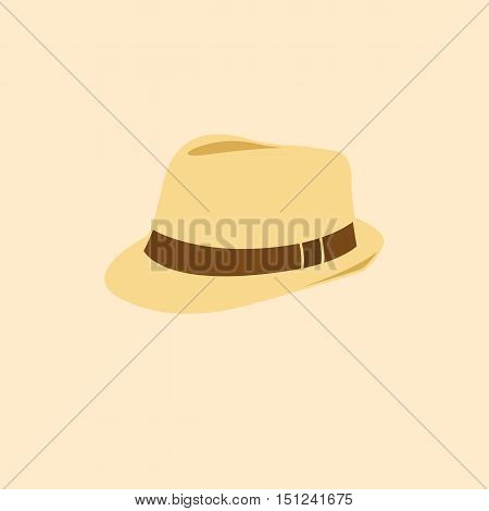 Vector illustration of man hat isolated icon pictogram
