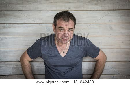 Frustrated unhappy man. Portrait